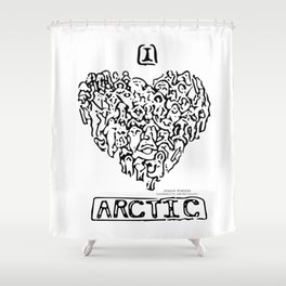 I Heart Arctic By Joseph Winters Shower Curtain