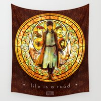 korra Wall Tapestries featuring LoK/Anastasia: Life is a Road by KaiAyame