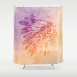 Indian skull Shower Curtain