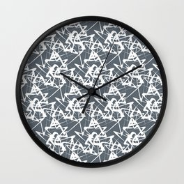 White noise lines on Volcanic Glass color ( Blue ) Wall Clock