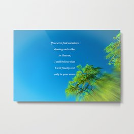 """Silk Tree Leaves #22"" Photo with poem: Heaven Metal Print"