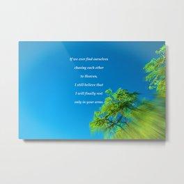 """""""Silk Tree Leaves #22"""" Photo with poem: Heaven Metal Print"""