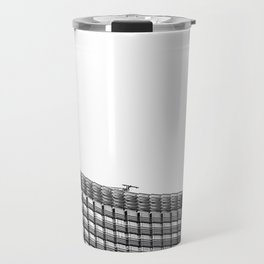 modern style buildings at Las Vegas, USA in black and white Travel Mug