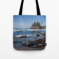 time low Tote Bags featuring Low Tide by Mark Alder