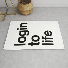 Login To Life Rug