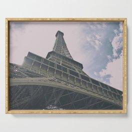 Eiffel Tower in Paris, France. Landmark in France Serving Tray