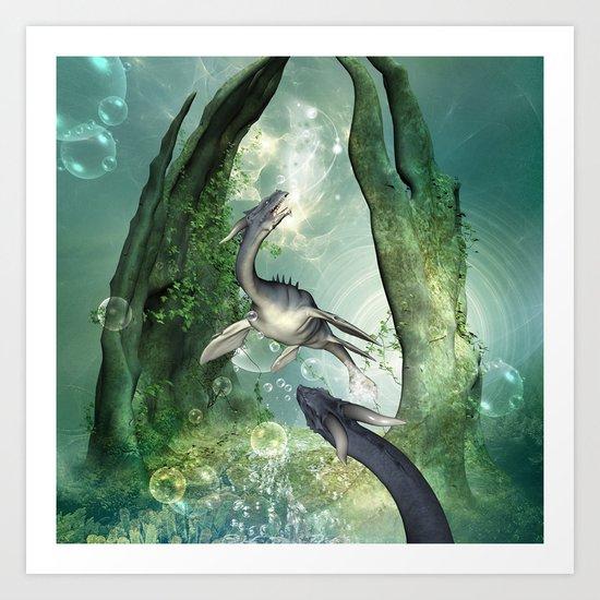 Awesome seadragon Art Print