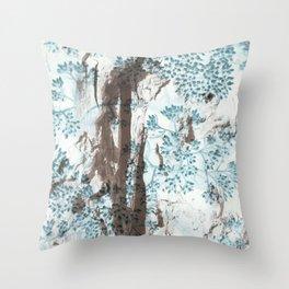 Split Wood Textile Throw Pillow