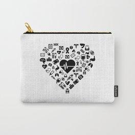 I Love First Aid | Doctor Nurse Heart Hospital Carry-All Pouch