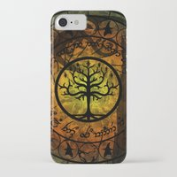 gondor iPhone & iPod Cases featuring Tree of Gondor Stained Glass by Mazuki Arts