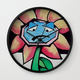 Barry the Bipolar marigold  Wall Clock