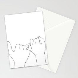 pinky swear Stationery Cards