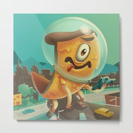 Attack of the 50 Ft. Pizza Metal Print