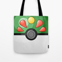pokeball Tote Bags featuring Friendship Pokeball by Amandazzling