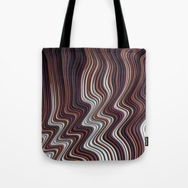 COIF abstract gradient waves of brown and white Tote Bag