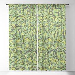 Neon Dinos Sheer Curtain