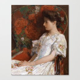 Childe Hassam - The Victorian Chair Canvas Print