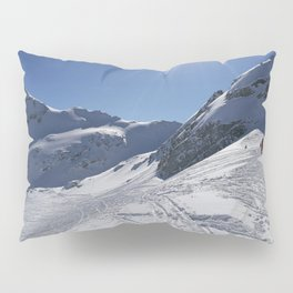 Up here, with sun and snow Pillow Sham