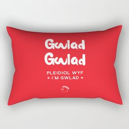 Wales Rugby Union national anthem - Mae Hen Wlad Fy Nhadau Rectangular Pillow