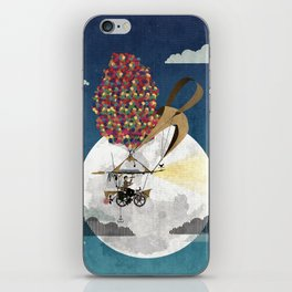 Flying Bicycle iPhone Skin