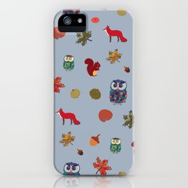 Fall Animal Party iPhone Case