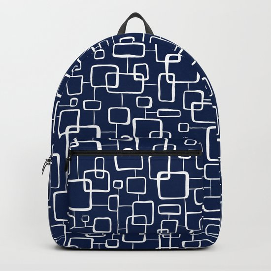 On The Quad - Navy Blue Backpack