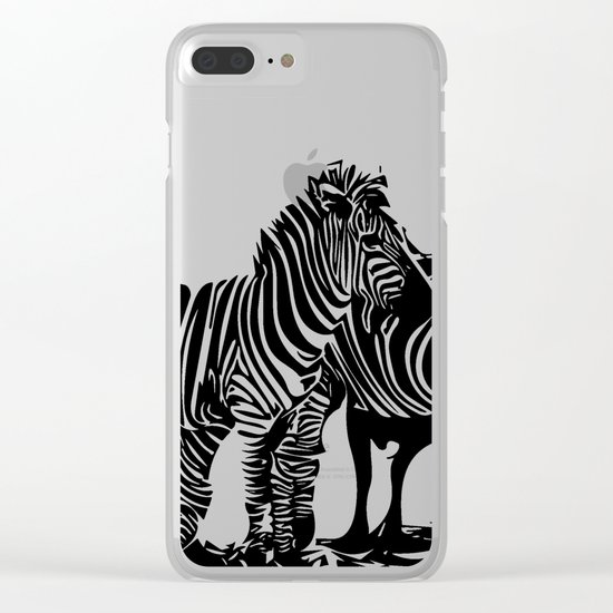 Zebras Clear iPhone Case
