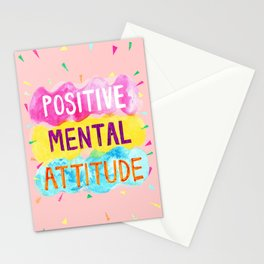 Positive Mental Attitude Stationery Cards