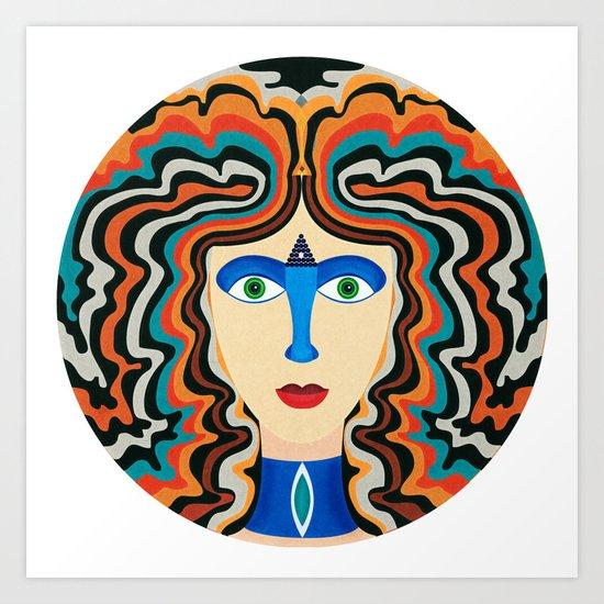 Blue Nose Art Print
