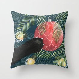 Here Comes Santa Claws Throw Pillow