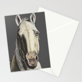 Horse Art, Grey Horse Art, Farm Animal Art Stationery Cards