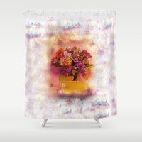flora Shower Curtains featuring Flora  by Music of the Heart