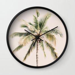 Tropical Palm Tree Wall Clock