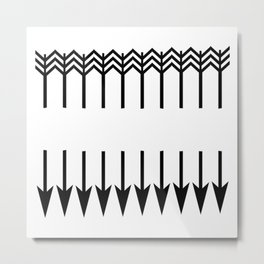 From the arrows to the wall Metal Print