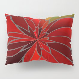 Abstract Poinsettia Pillow Sham