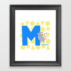 m for mouse Framed Art Print
