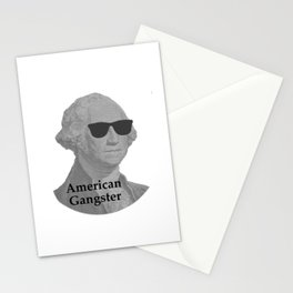 George Washington Cool Sunglasses American Gangster Stationery Cards