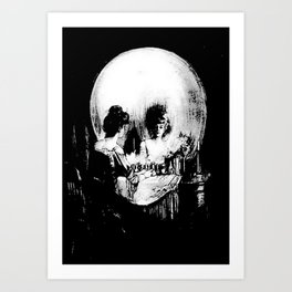 All Is Vanity: Halloween Life, Death, and Existence Art Print