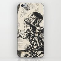 mad hatter iPhone & iPod Skins featuring Mad Hatter by Jordan Renae Arp