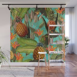 Vintage & Shabby Chic - Pineapple Tropical Garden Wall Mural