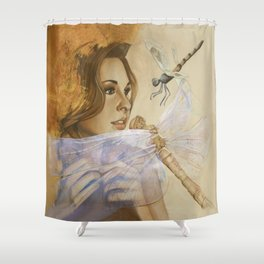 Spreading Her Wings Shower Curtain