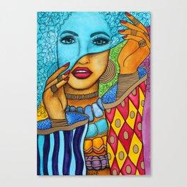 Blue Pashmina Canvas Print