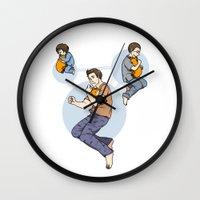 stiles Wall Clocks featuring Stiles: Pillow Pet by Takkun