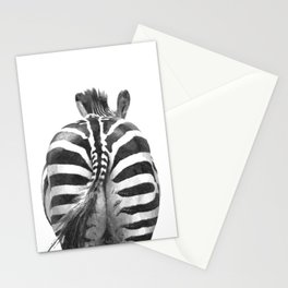 Black and White Zebra Tail Stationery Cards