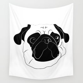 Bartimaeus The Pug Wall Tapestry