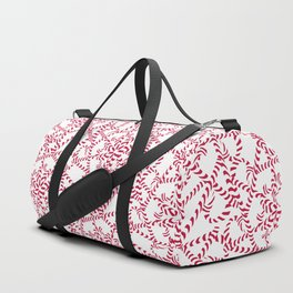 Candy cane flower pattern 2 Duffle Bag