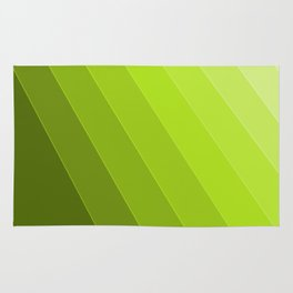 Green Gradient to Light Rug