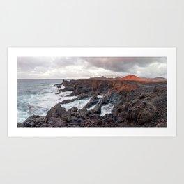 Los Hervideros. Lanzarote, Canary Islands. Art Print
