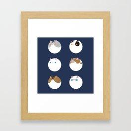 Poke a Dots in Cats Framed Art Print