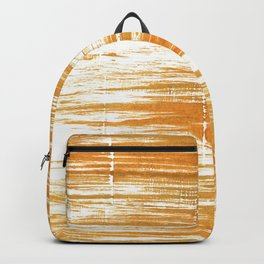 Yellow brown painting Backpack